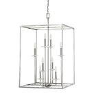 Malcolm 8-Light Square/Rectangle Chandelier Finish: Polished Nickel