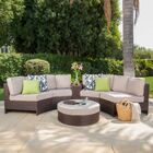 Daniela 6 Piece Sectional Set with Cushions Color: Beige