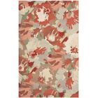 Whirwind Hand-Loomed Red/Green Area Rug Rug Size: Rectangle 8' x 10'