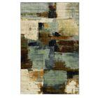 Harlingen Blue/Tan Area Rug Rug Size: Rectangle 5' x 8'