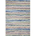 Lou Bone/Ocean Blue Area Rug Rug Size: Rectangle 5'3