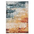 Middlesex Teal/Yellow Area Rug Rug Size: 7'10