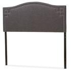 Kareem Upholstered Panel Headboard Upholstery: Dark Gray, Size: King