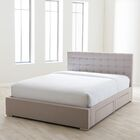Myrrine Upholstered Storage Platform Bed Color: Beige, Size: Queen