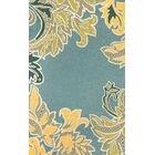 Cosmo Water Ornamental Leaf Border Outdoor Area Rug Rug Size: Runner 2' x 8'