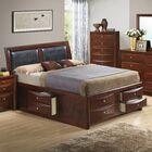 Medford Storage Upholstered Platform Bed Size: King, Color: Cherry
