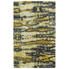 Virginis Gold/Gray Area Rug Rug Size: Rectangle 8' x 11'