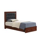Brennen Upholstered Storage Platform Bed Color: Cherry, Size: Twin