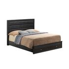 Brennen Upholstered Storage Platform Bed Size: Queen, Color: Black
