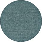 Lawrence Hand-Tufted Teal Area Rug Rug Size: Round 8'