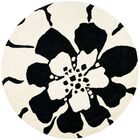 Armstrong Black/White Area Rug Rug Size: Rectangle 3'6