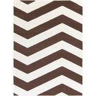 Greer Ivory/Chocolate Area Rug Rug Size: Rectangle 9'3