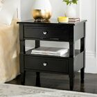 Jerry 2 Drawer Nightstand Color: Black