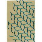 Woodburn Hand-Tufted Beige/Blue Area Rug Rug Size: Rectangle 5' x 8'