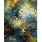 Blue/Yellow Area Rug Rug Size: Rectangle 9' x 12'
