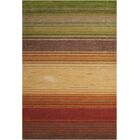 Gemini Hand-Tufted Green/Beige/Red Area Rug Rug Size: Rectangle 5' x 7'6
