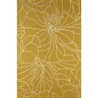 Gina Hand-Tufted Gold/Ivory Area Rug Rug Size: Rectangle 6' x 9'