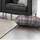 Zoelle Plaid Indoor/Outdoor Floor Pillow Size: 26