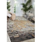 Annan Beige/Silver Area Rug Rug Size: Rectangle 9'9