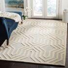 Arthur Hand-Tufted Gray / Ivory Area Rug Rug Size: Rectangle 5' x 8'