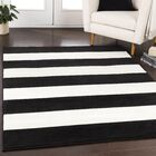 Greer Black/Cream Area Rug Rug Size: Rectangle 6'7