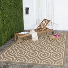 Miami Brown/Tan Indoor/Outdoor Area Rug Rug Size: Rectangle 5'3