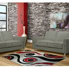 Black/Gray Area Rug Rug Size: 5' x 8'