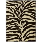 Chocolate/Cream Area Rug Rug Size: 8' x 11'
