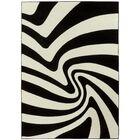 Zebra Black/White Area Rug Rug Size: 8' x 11'