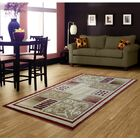 Red Area Rug Rug Size: 5' x 8'