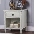 Julienne 1 Drawer Nightstand Color: French Linen