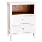 Lily 2 Drawer Nightstand Color: White