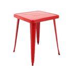 Feliz Indoor and Outdoor Rust-Resistant Metal Restaurant Coffee Table Color: Red