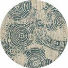 Hershman Dark Blue/Beige Area Rug Rug Size: ROUND 5'3