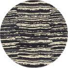 Hershberger Gray/Beige Area Rug Rug Size: ROUND 5'3