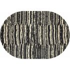Hershberger Gray/Beige Area Rug Rug Size: OVAL 6'7 x 9'6