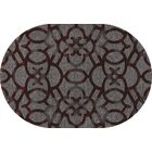 Delanie Red Area Rug Rug Size: OVAL 6'7 x 9'6