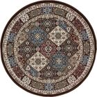 Lang Brown Area Rug Rug Size: ROUND 7'10