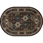 Lang Brown Area Rug Rug Size: OVAL 3'11 x 6'1