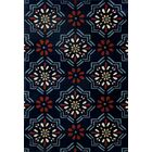 Vasquez Dark Blue/Orange Indoor/Outdoor Area Rug Rug Size: 9'2 x 12'4