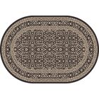 Lang Machine Woven Gray Area Rug Rug Size: OVAL 6'7 x 9'6