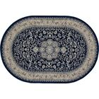 Lang Navy Area Rug Rug Size: OVAL 6'7 x 9'6