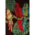 Vasser Parrots Brown/Green Indoor/Outdoor Area Rug Rug Size: 9'2 x 12'4