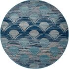 Ceasar Waves Gray Indoor/Outdoor Area Rug Rug Size: 6'7 x 9'2