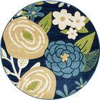 Ceasar Bouquet Blue Indoor/Outdoor Area Rug Rug Size: 7'10 x 10'6