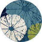 Ceasar Citrus Slice Blue Indoor/Outdoor Area Rug Rug Size: ROUND 7'10