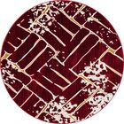 Mcconnell Red Area Rug Rug Size: ROUND 7'10