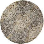 Devay Dark Gray/Cream Area Rug Rug Size: ROUND 5'3