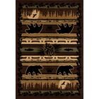 Raritan Grizzly Forest Black Area Rug Rug Size: 9'2 x 12'4