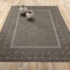 Summer Geometric Bordered Dark Gray Indoor/Outdoor Area Rug Rug Size: 5'3